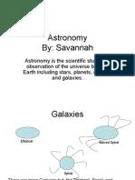 Savannah Astronomy