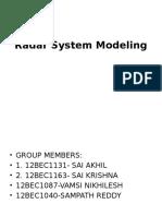 Radar System Modeling