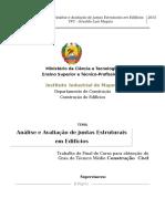 TFC- ANALISE E AVALIAÇÃO DE JUNTAS ESTRUTURAIS EM EDIFICIOS DE BETAO ARMADO