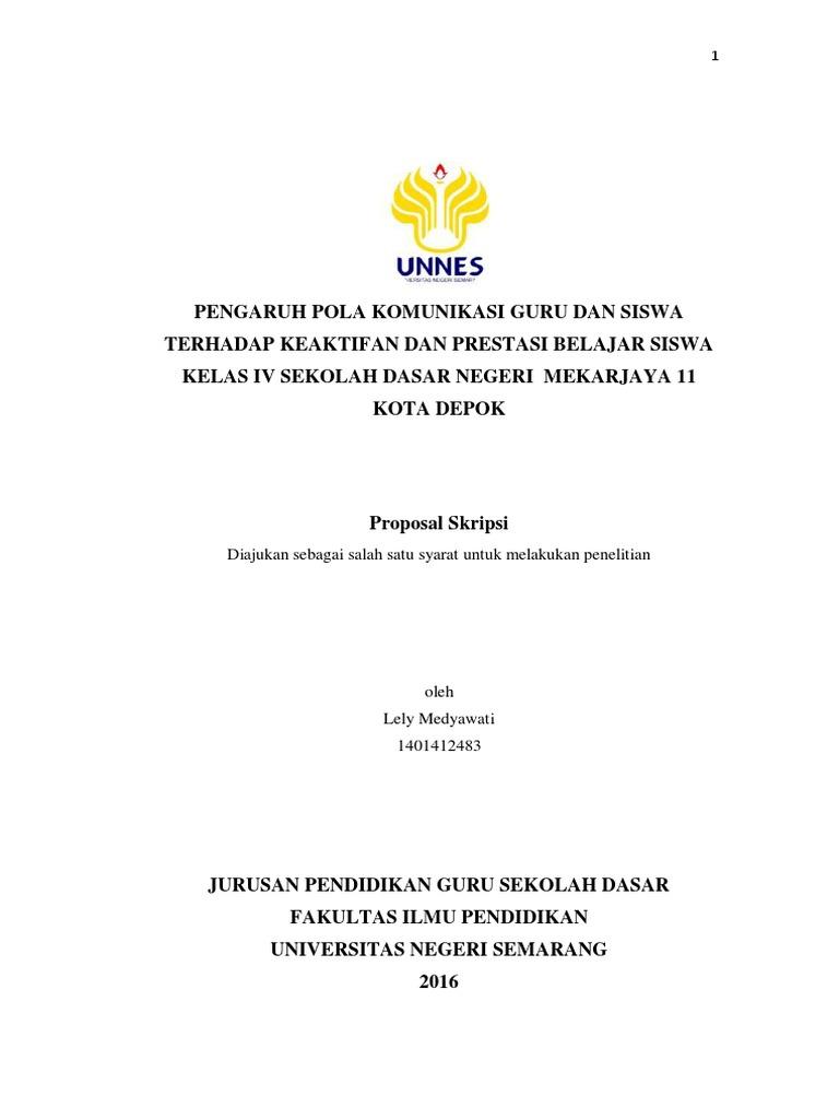 Proposal Penelitian Lely M Unnes