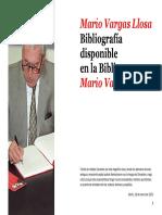 Bibliografía Mario Vargas Llosa -Noviembre 2013
