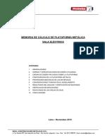 Memoria de Cálculo de Plataforma Metálica - Indal 1