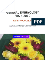 General Embryology Introduction FBS 4 2009