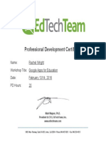 pd certificate for google apps for education