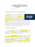 Tema 24. La Península Ibérica Hasta La Dominación Romana. Temario Geografía e Historia.