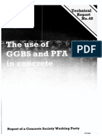 TR 40 the Use of GGBS and PFA in Concrete