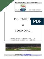 Empoli Torino 38giornataseriea