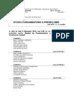 Comisii_Studiul de Fundamentare a Prediplomei_8-9 Februarie 2016