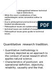 A Question of Method and Epistemology