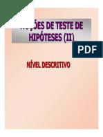 Aula de Teste de Hipóteses II