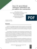 Caminos de aprendizaje para problemas aritméticos de estructura aditiva de sustracción