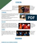 Danzas de la Costa, Sierra y Selva