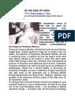 Auoobindo the Sage and His Idea of India