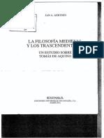 Aersten J. Introduccion en La Filosofia Medieval y Los Trascendentales