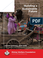 Annual Summary Report 2015-16 - Minhaj Welfare Foundation