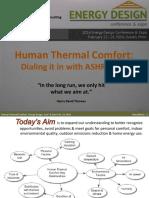 Human Thermal Comfort Part 1
