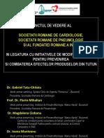 Punctul de vedere al Societății Române de Cardiologie, Societății Române de Pneumologie și Fundația Română a inimii