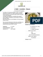 Lachs in Sekt Limetten Sauce