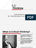 Chapter 5- Critical Thinking