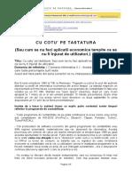 Cu Cotu' Pe Tastatura (Cizmaria Informatica 4)