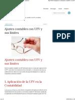 Ajustes Contables Con UFV y Sus Límites - Bolivia Impuestos