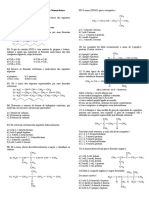 REVISAO I -  3ª  Ano química orgânica exercícios prova