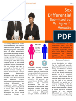 Sex Differential Written Report