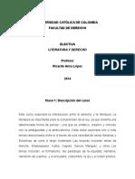 Programa Literatura y Derecho, RAL