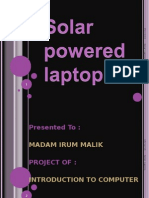 Solar Powered Laptop