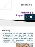 Module 2 - Planning & Implementation in Business