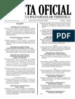 Gaceta Oficial N° 40.902 - Notilogía