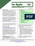 The Apple Newsletter, November 2008, Sustainable School News