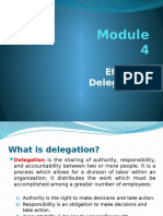 Module 4 - Effective Delegations in an Organization
