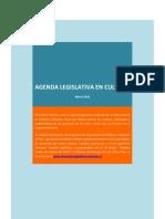 Agenda Legislativa en Cultura - Mayo 2016