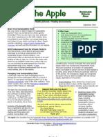 The Apple Newsletter, September-October 2008, Sustainable School News