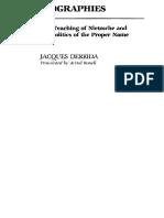 Derrida Otobiographies