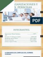 Las Organizaciones y La Persona Adm de Personal