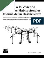 Derecho a La Vivienda y Politicas Habitacionales_0