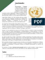 Relaciones Internacionales - Wikipedia, La Enciclopedia Libre