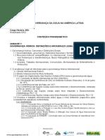 Governanca Agua America Latina