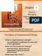 CGAPTER 06 MANAGING Organization Change and Innovation