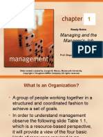 CHAPTER 01 Managing the Managers Job