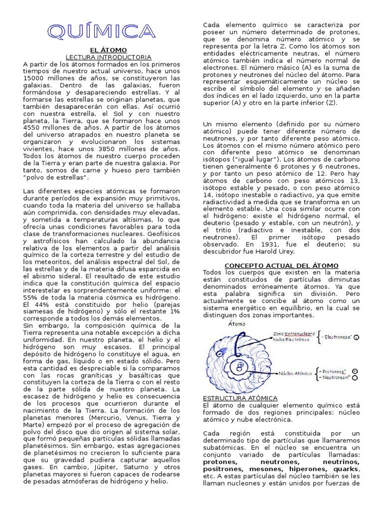 El átomo Quimica