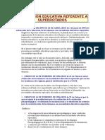 Superdotados. Legislacion Educativa Nacional