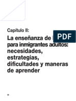 5. La Enseñanzza de La L2 Para Inmigrantes Adultos