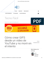 Cómo Crear GIFS Desde Un Video de YouTube