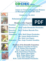 1st Conference on Coastal Ecosystems Science and Management EcoCIEC2016
