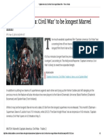 'Captain America_ Civil War' to Be Longest Marvel Film - Times of India