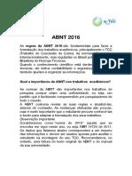 ABNT 2016