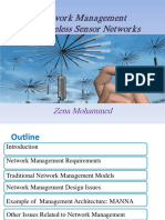 network management for wireless sensor netwok